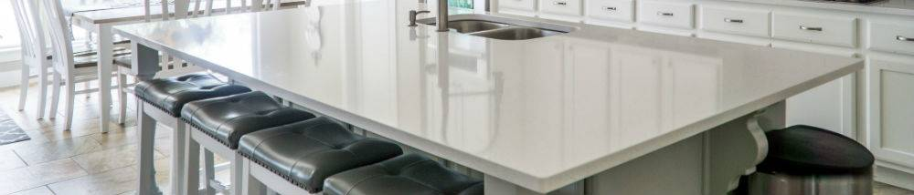 kitchen island white granite