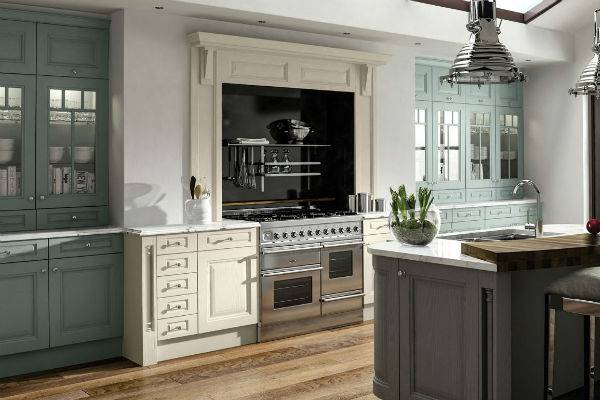 traditional style kitchen with stainless steel range cooker