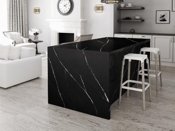 black marble worktops