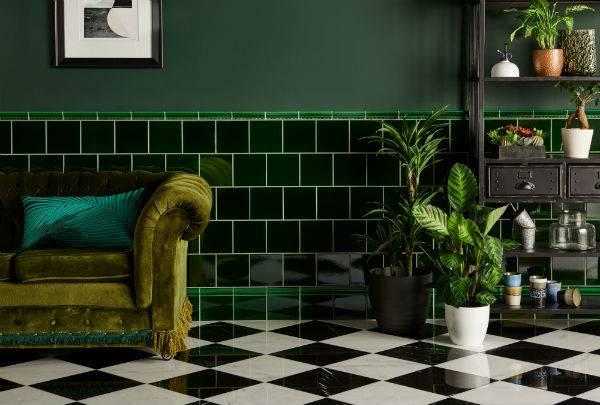 dark green tiles