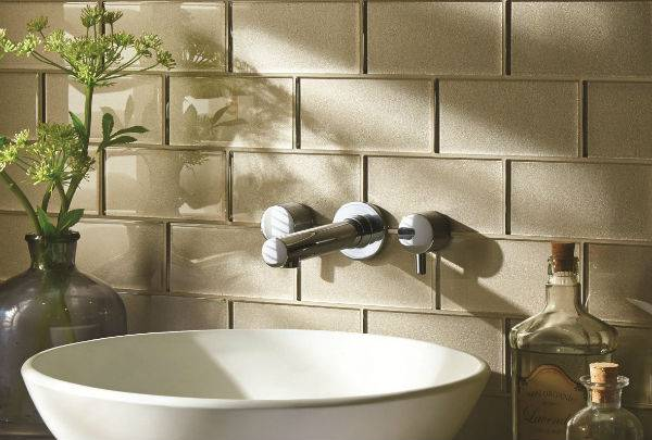 beige glass bathroom tiles